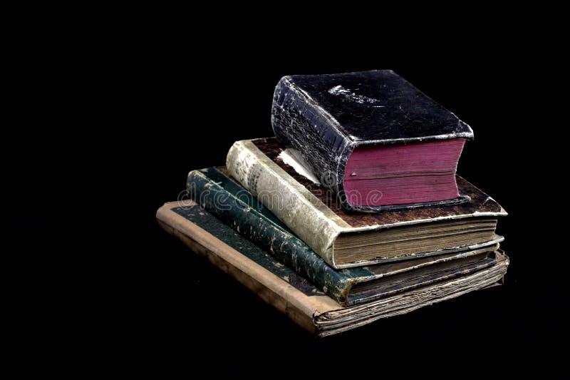 Livros antigos velhos imagens de stock royalty free