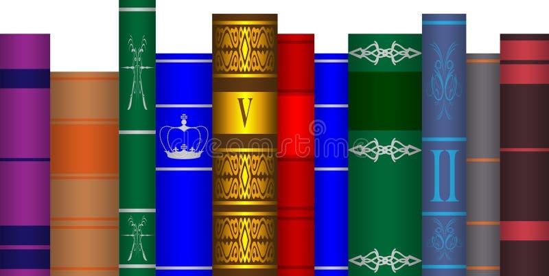 Livros arranjados ilustração royalty free