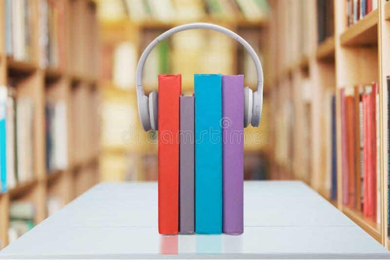 Livros audio foto de stock