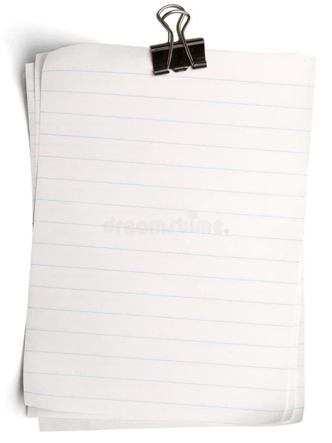 Livros Brancos com o grampo isolado no whitee fotos de stock royalty free