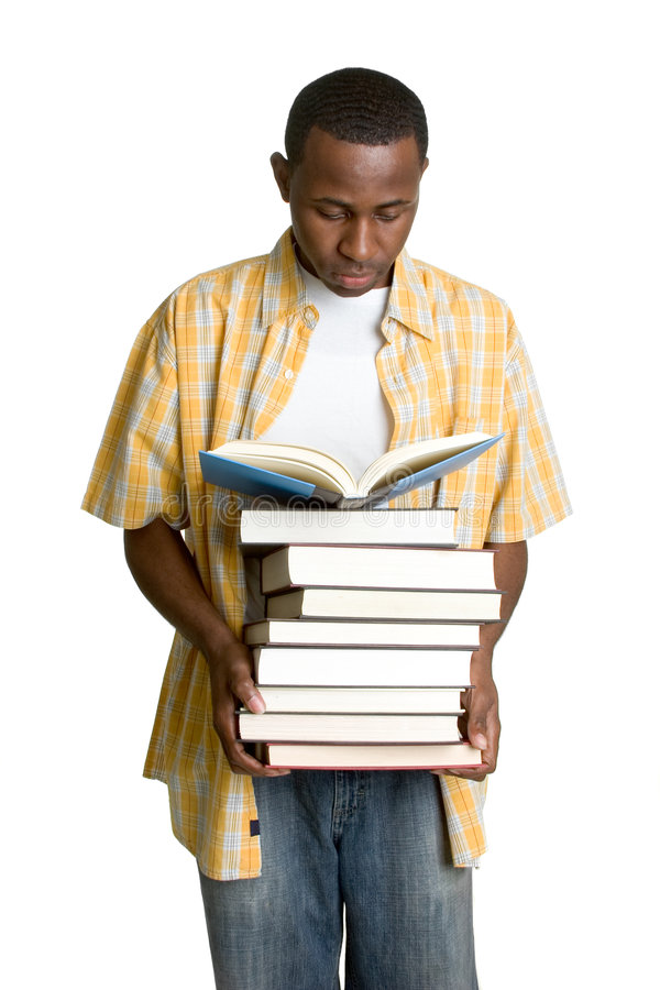 Livros carreg do estudante foto de stock