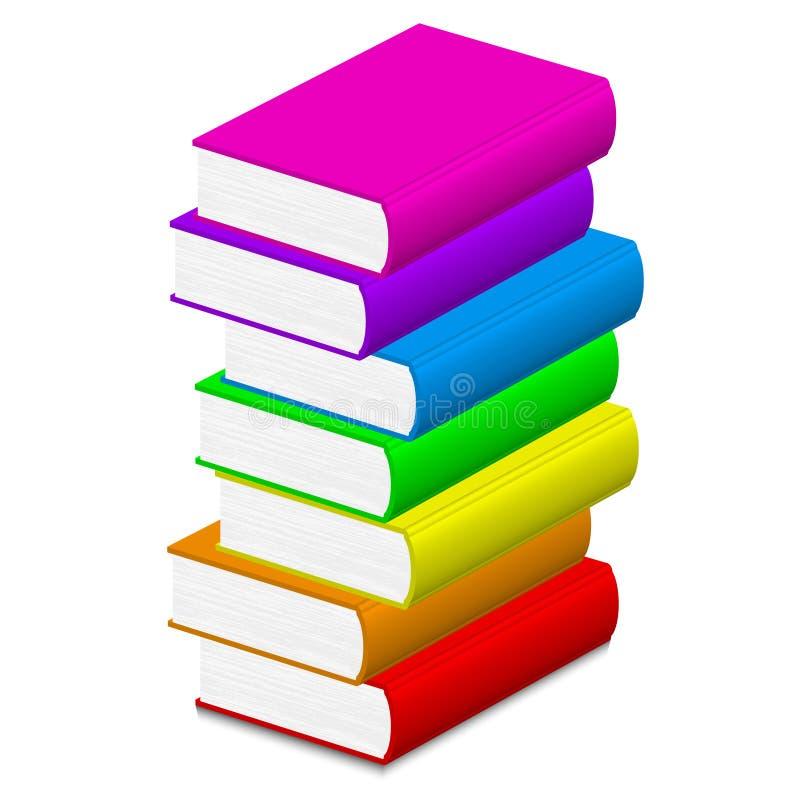 Livros coloridos ilustração royalty free
