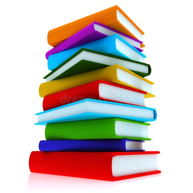 Livros coloridos imagem de stock