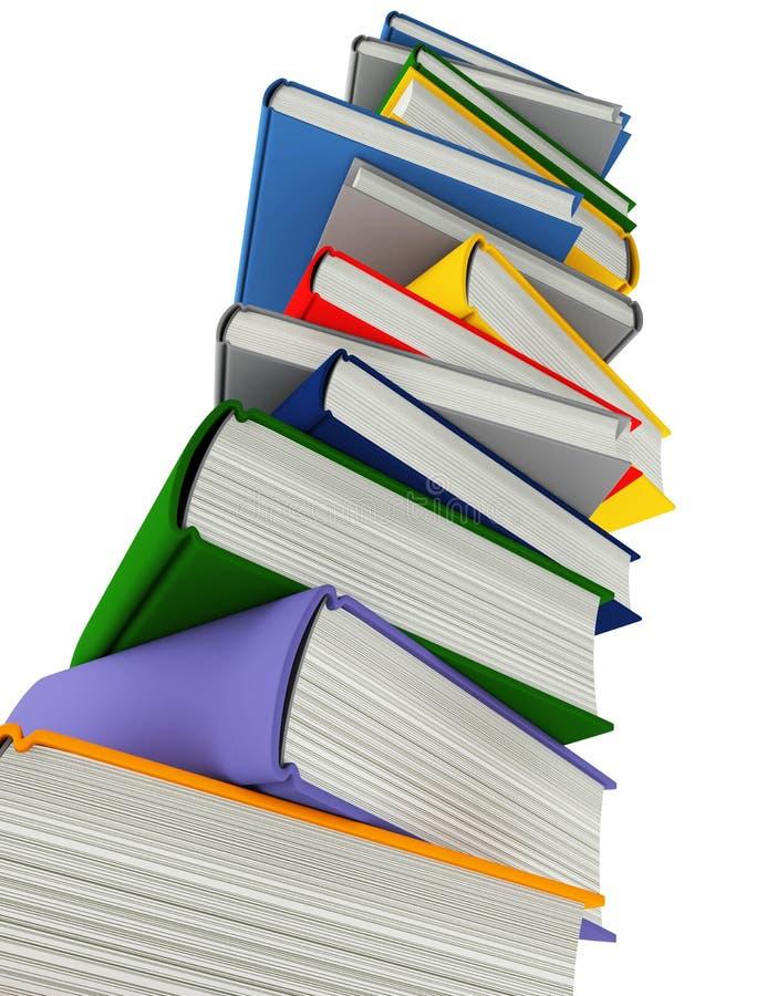 Livros coloridos isolados no branco ilustração stock