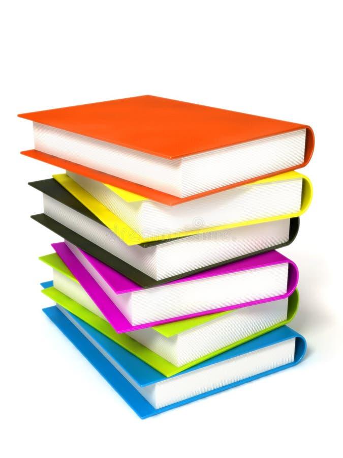Livros coloridos maciços fotografia de stock royalty free