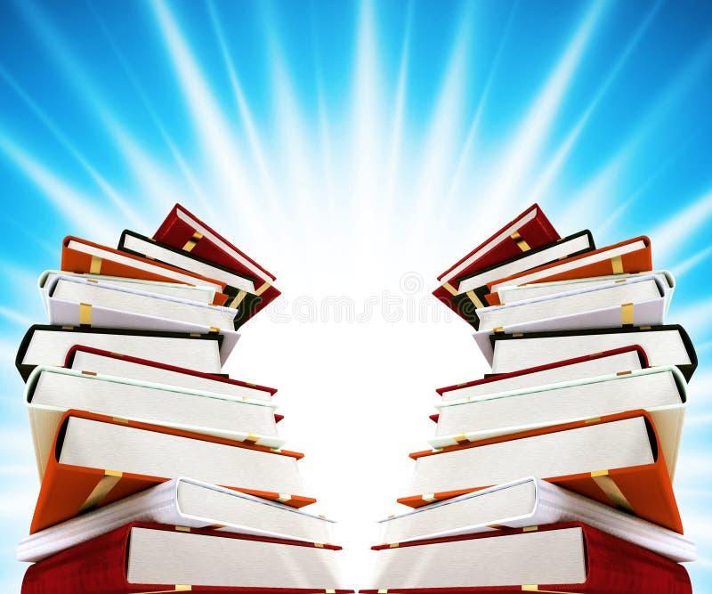 Livros coloridos no fundo ilustração stock