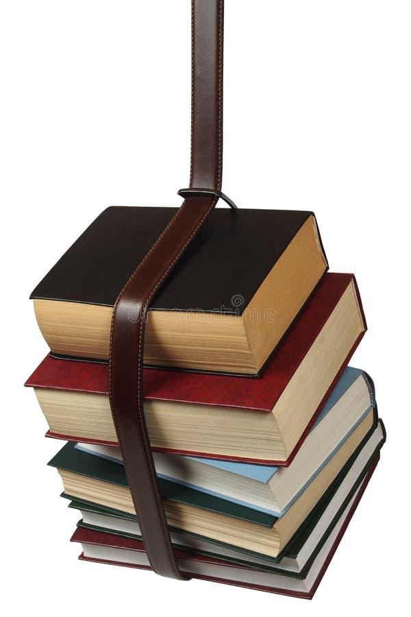 Livros com correia imagens de stock