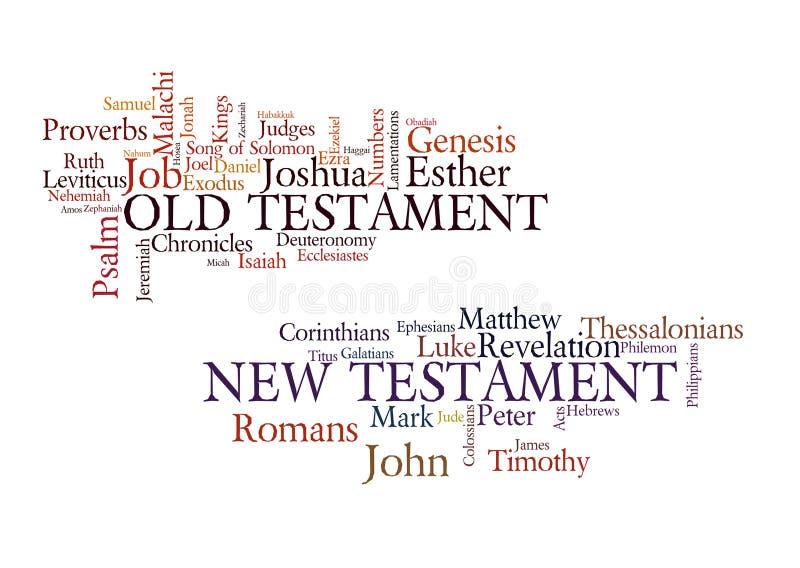 Livros da Bíblia ilustração stock