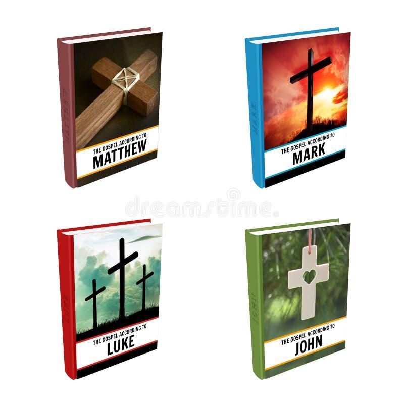 Livros da Bíblia - gospéis ilustração stock