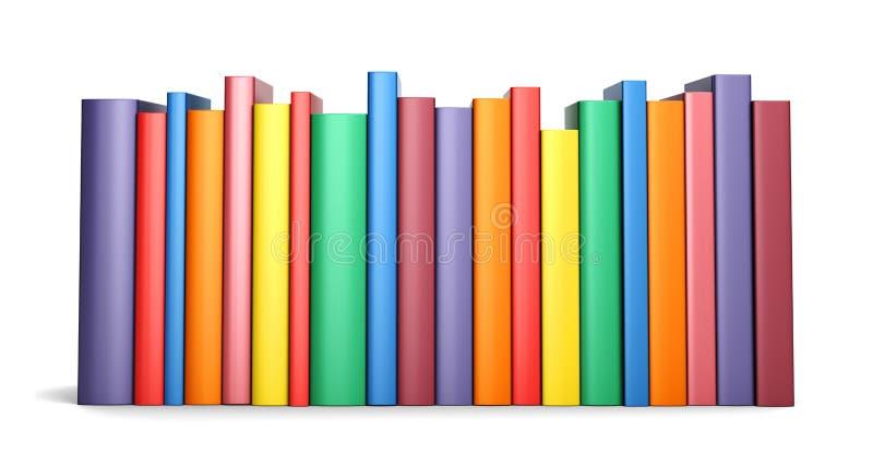 Livros da cor na linha ilustração royalty free