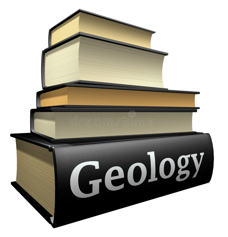 Livros da instrução - geologia ilustração stock