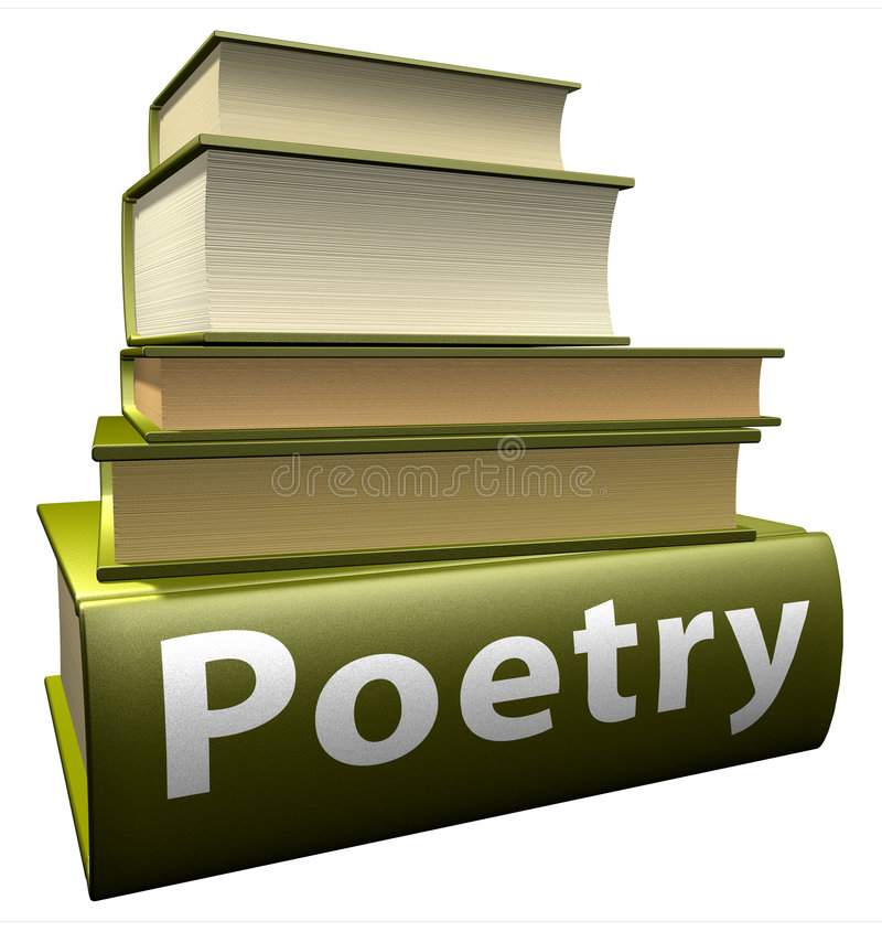 Livros da instrução - poesia imagens de stock royalty free