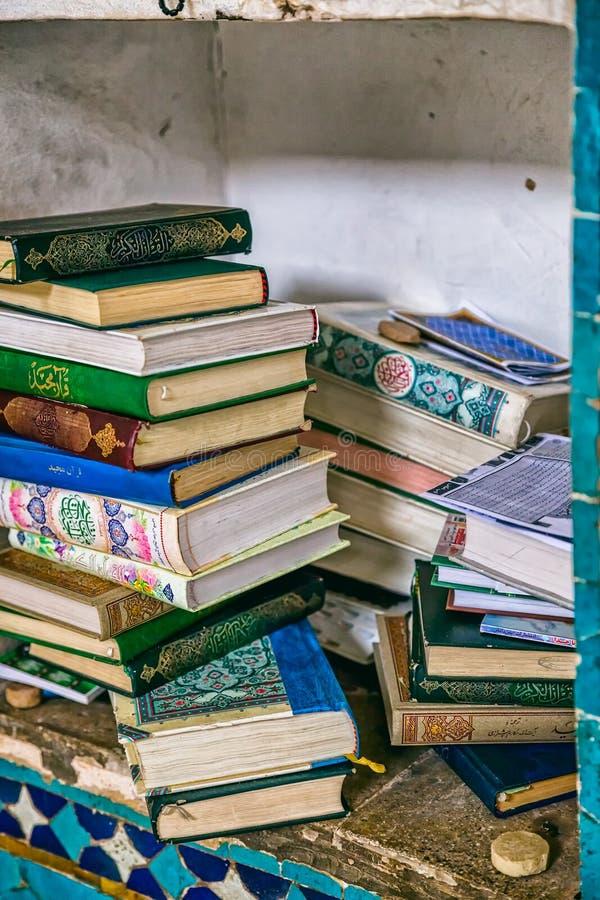 Livros da mesquita de Yame fotografia de stock