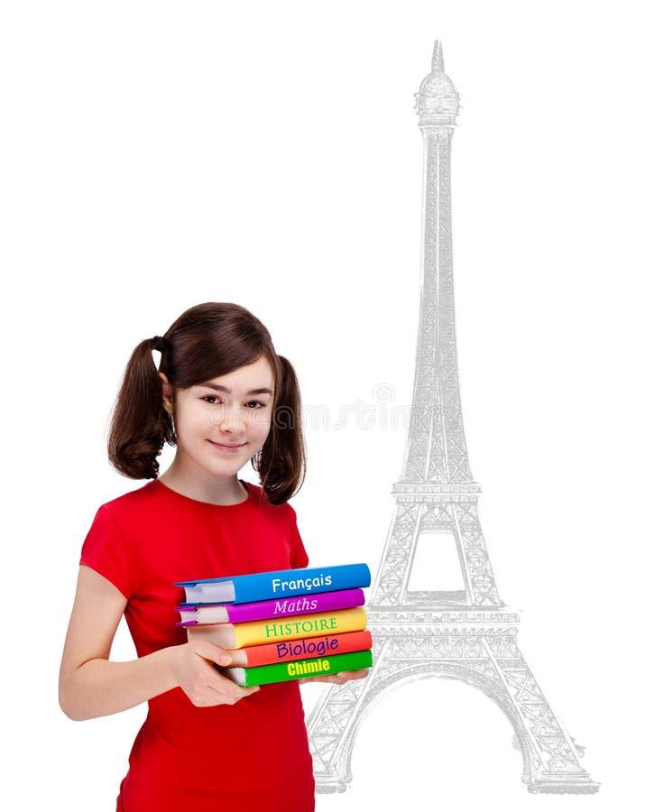 Livros da terra arrendada do estudante foto de stock royalty free