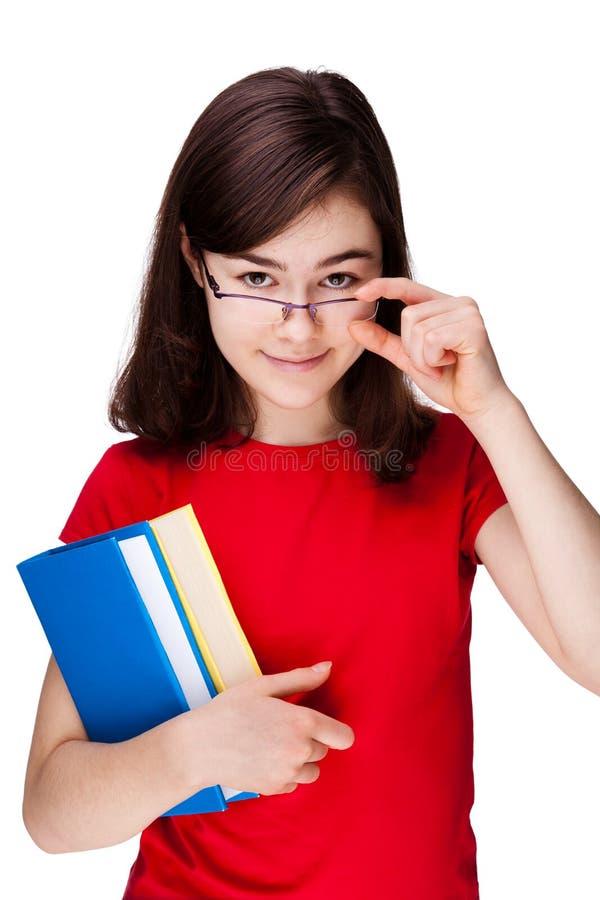 Livros da terra arrendada do estudante imagens de stock royalty free