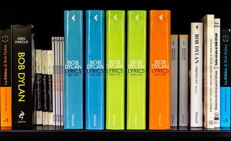 Livros de Bob Dylan fotografia de stock
