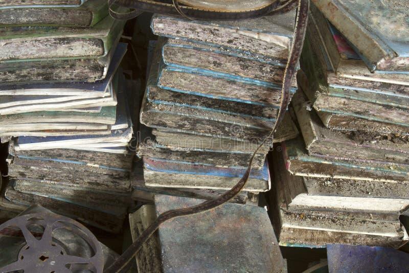 Livros de escola Rotting imagens de stock royalty free