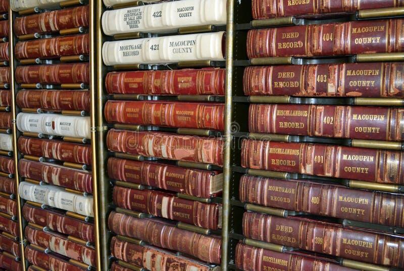 Livros de lei da casa de corte fotografia de stock