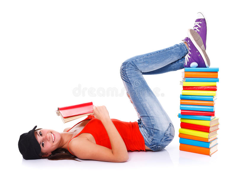 Livros de leitura foto de stock