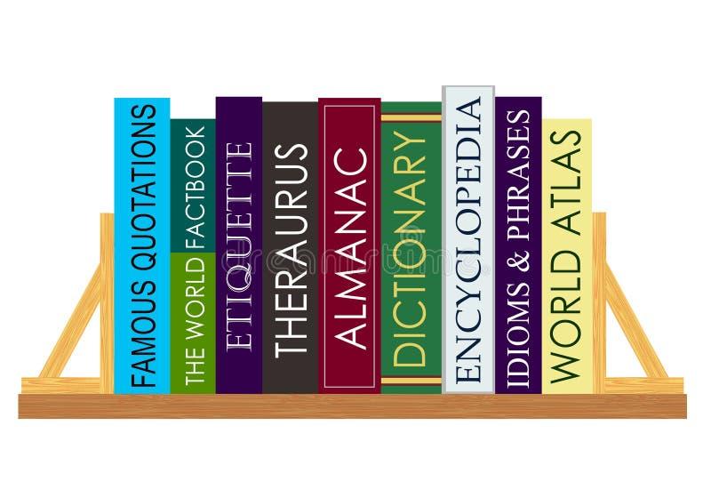 Livros de referência ilustração stock