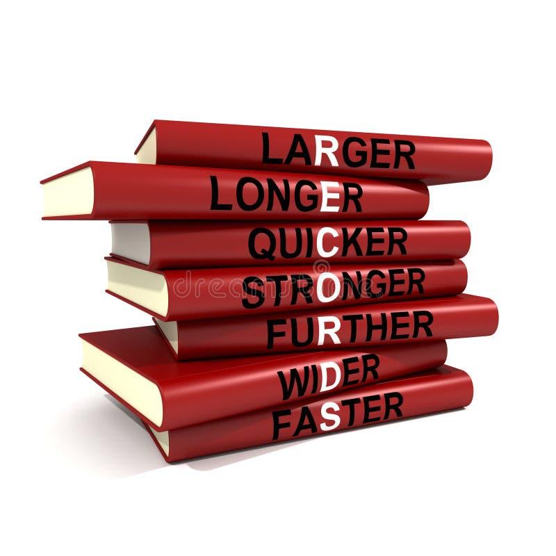 Livros de registros ilustração stock