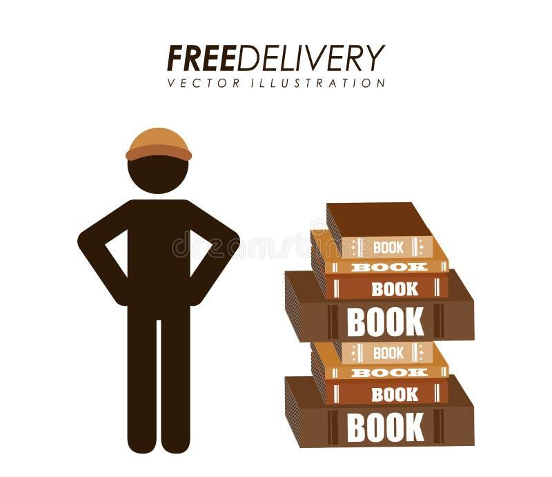 Livros de serviço da entrega ilustração do vetor