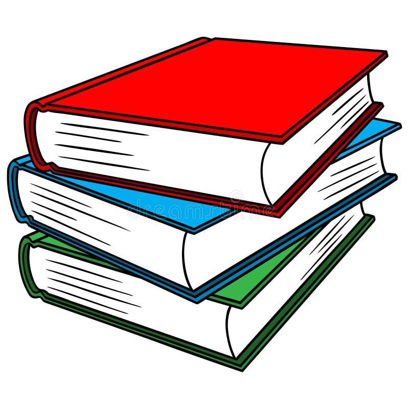Livros de texto ilustração stock
