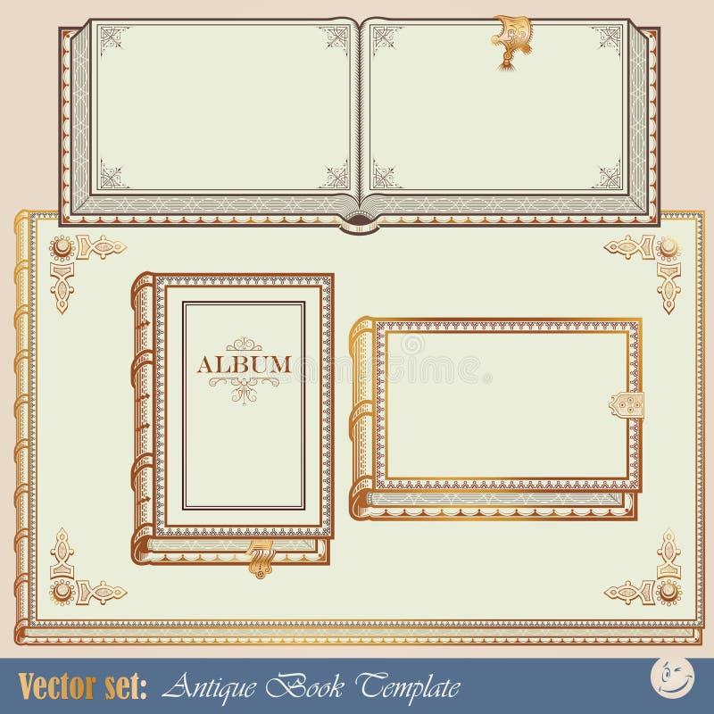 Livros do antiquarian dos moldes ilustração royalty free
