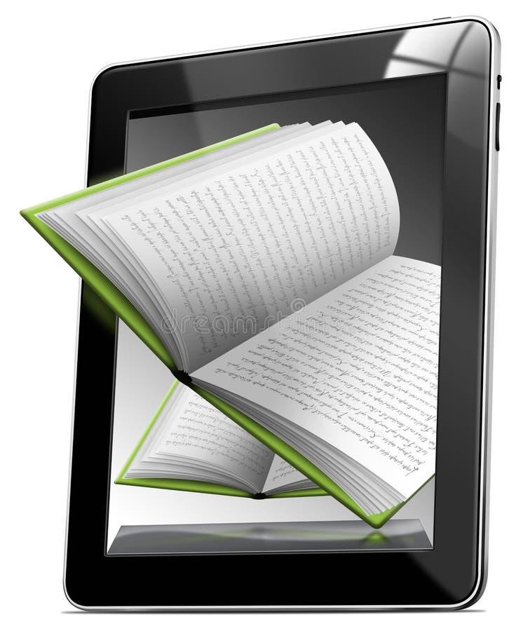 Livros do computador da tabuleta ilustração do vetor