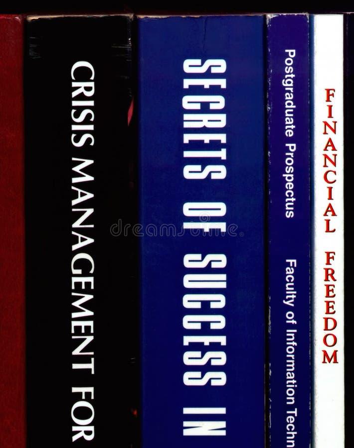 Livros do Self-improvement imagem de stock