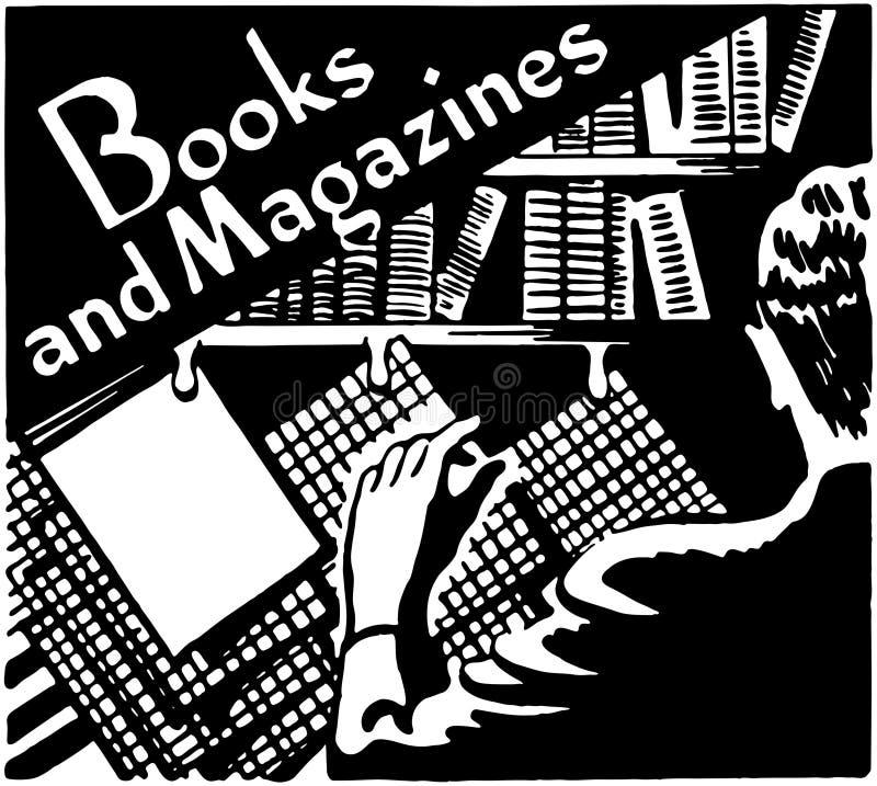 Livros e compartimentos ilustração do vetor