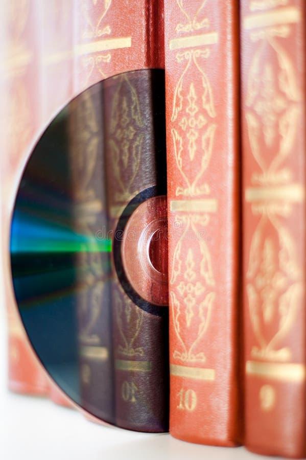 Livros e disco imagem de stock