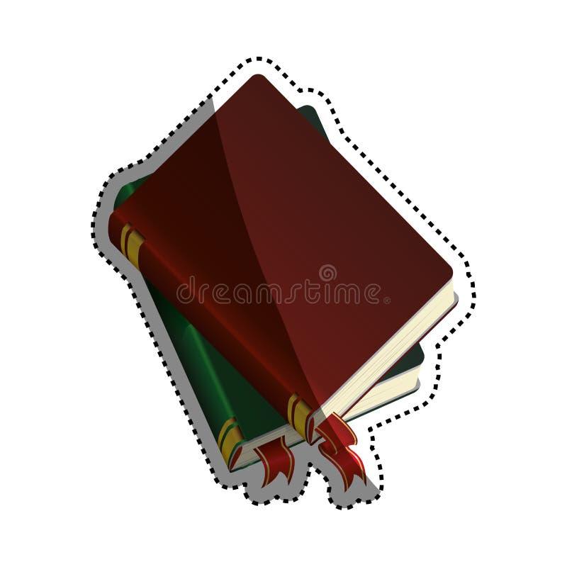 Livros e instrução ilustração stock