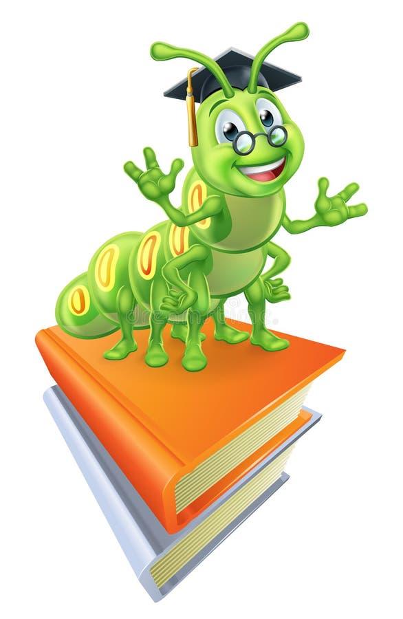 Livros e sem-fim do leitor ávido ilustração royalty free