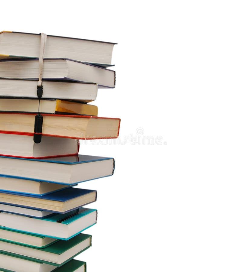 Livros e USB imagens de stock