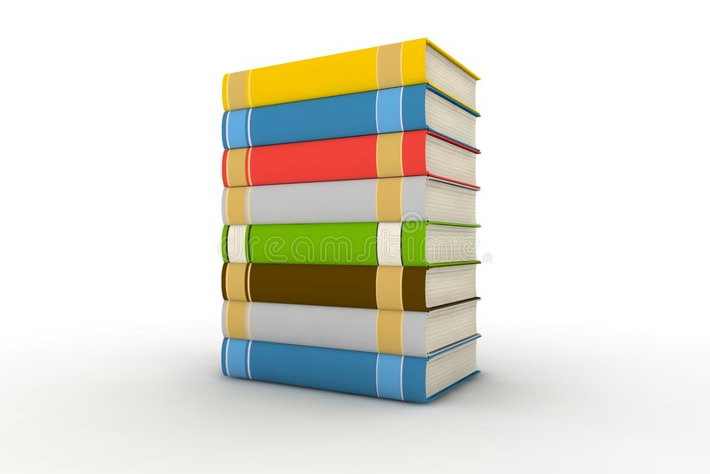 Livros isolados ilustração do vetor