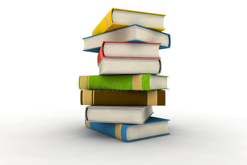 Livros isolados ilustração royalty free