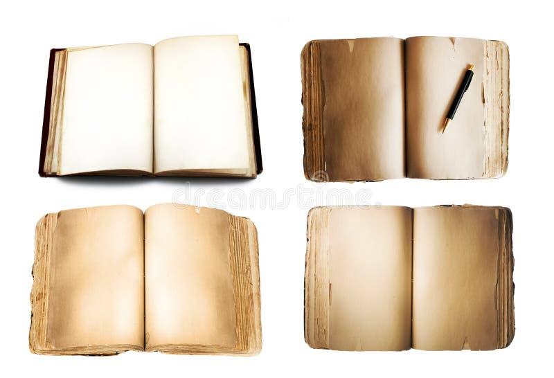 Livros isolados no branco imagem de stock royalty free