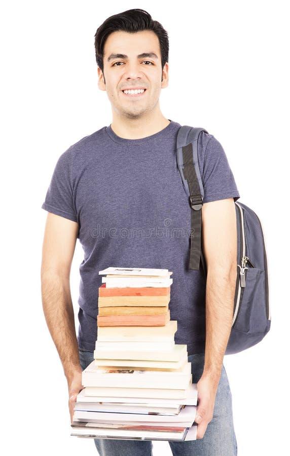 Livros levando do estudante foto de stock royalty free