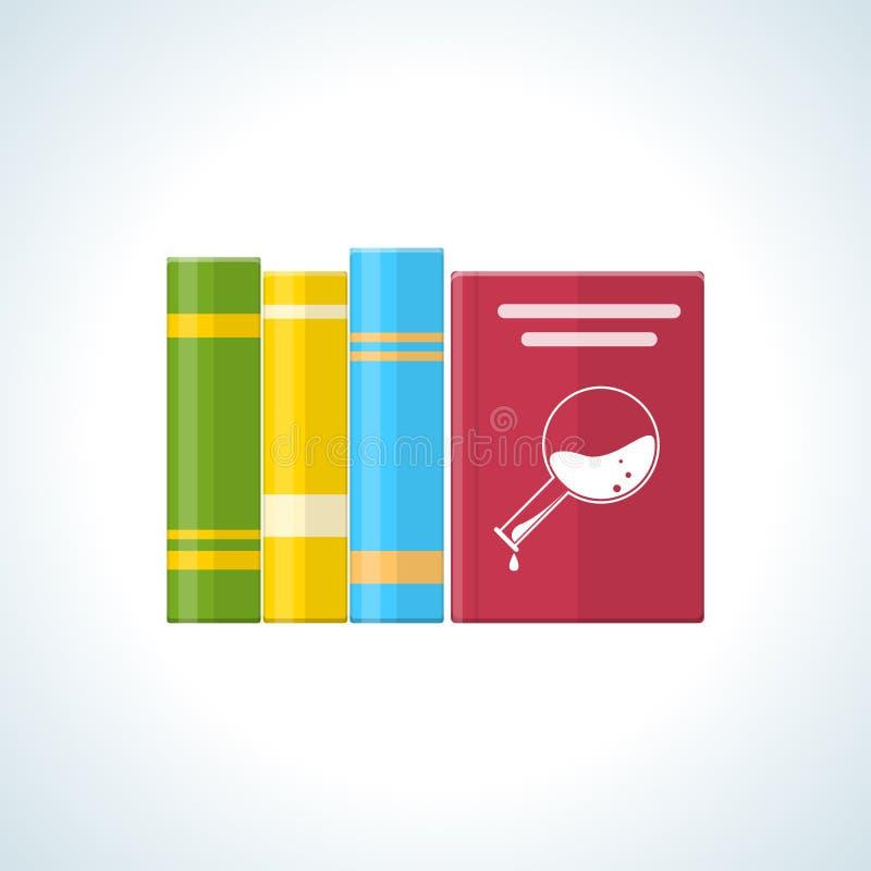 Livros na biblioteca, com materiais de ensino e literatura geral ilustração do vetor
