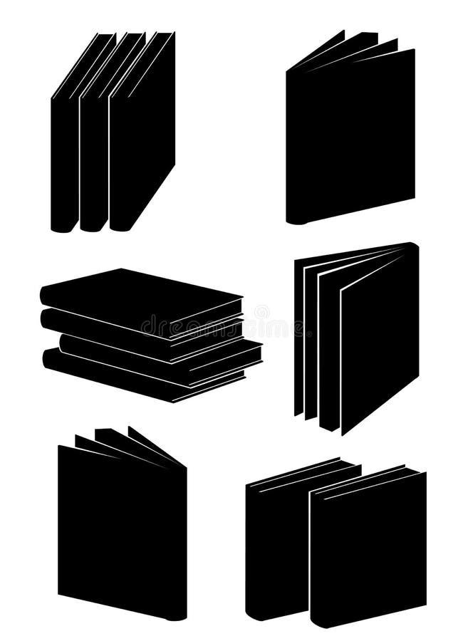 Livros na cor preta ilustração do vetor