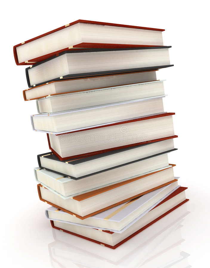 Livros no branco foto de stock royalty free