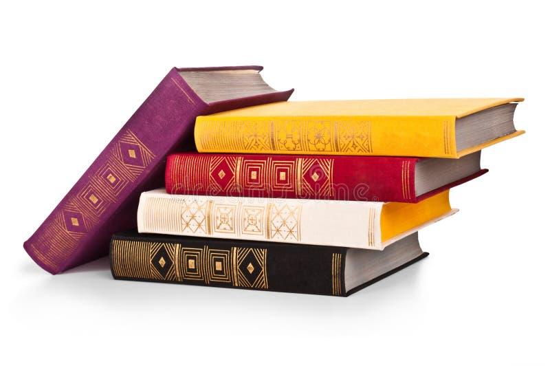 Livros velhos isolados imagem de stock royalty free