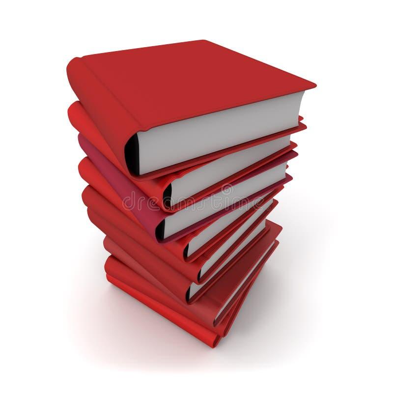 Livros vermelhos ilustração royalty free
