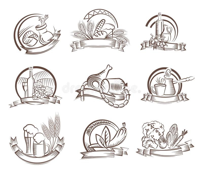 livsmedel royaltyfri illustrationer