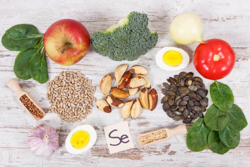 mat som innehåller selen