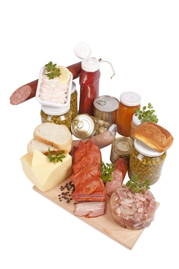 livsmedelsprodukter royaltyfria bilder
