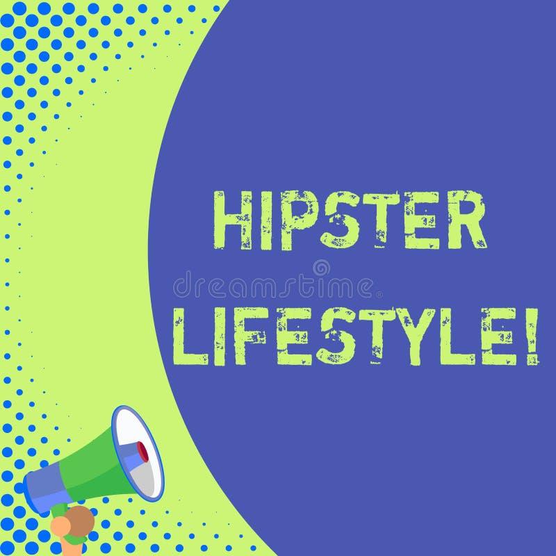Livsstil för Hipster för textteckenvisning Begreppsmässiga fotoval och musikintressen faller utanför den konventionella halva del vektor illustrationer