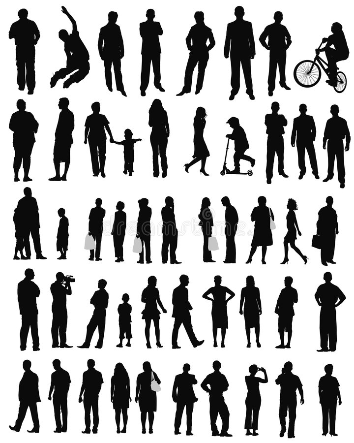 livsstilfolkshopping vektor illustrationer