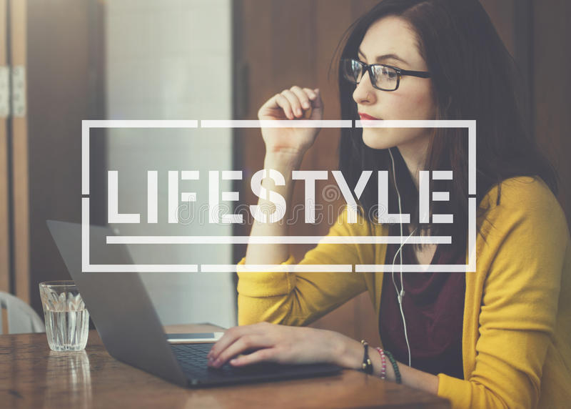 Livsstillivhobbyen åtgärdar målbegrepp royaltyfria foton